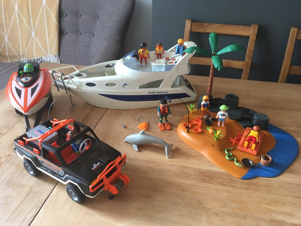 Playmobile beach and boat set