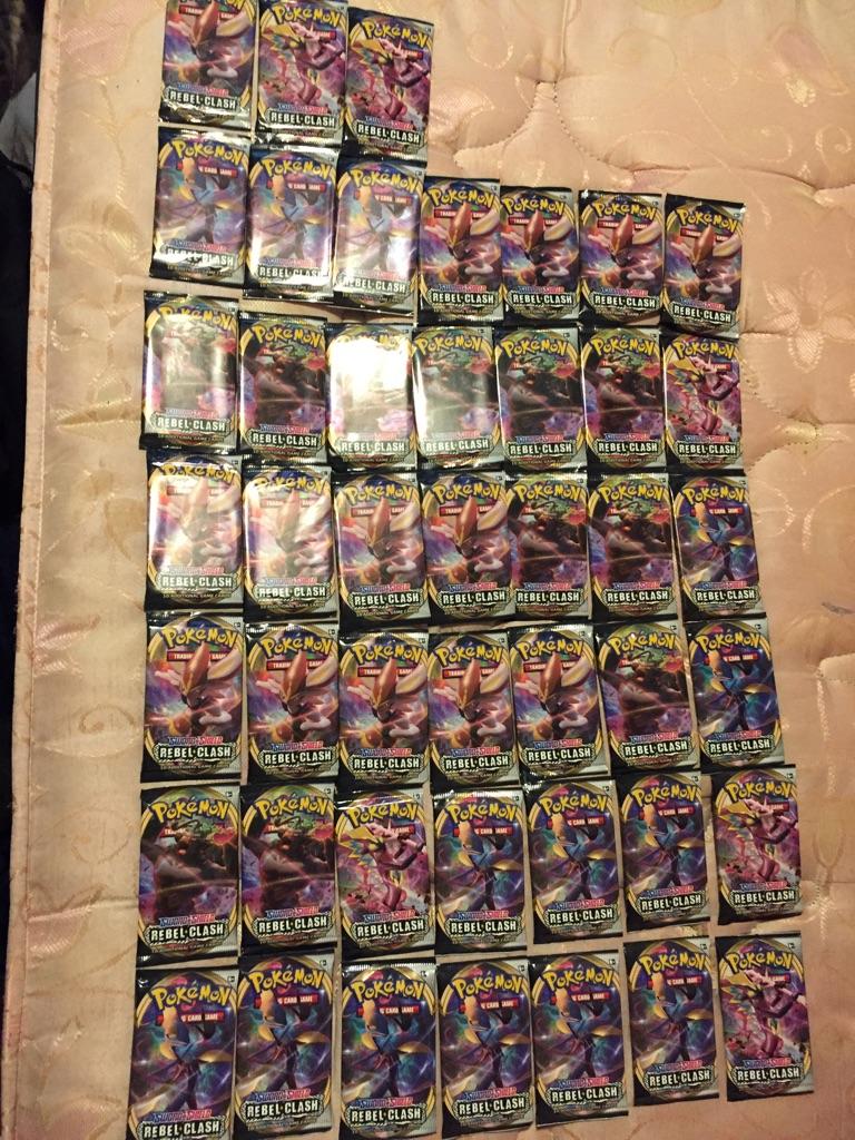 45x rebel clash Pokemon booster packs