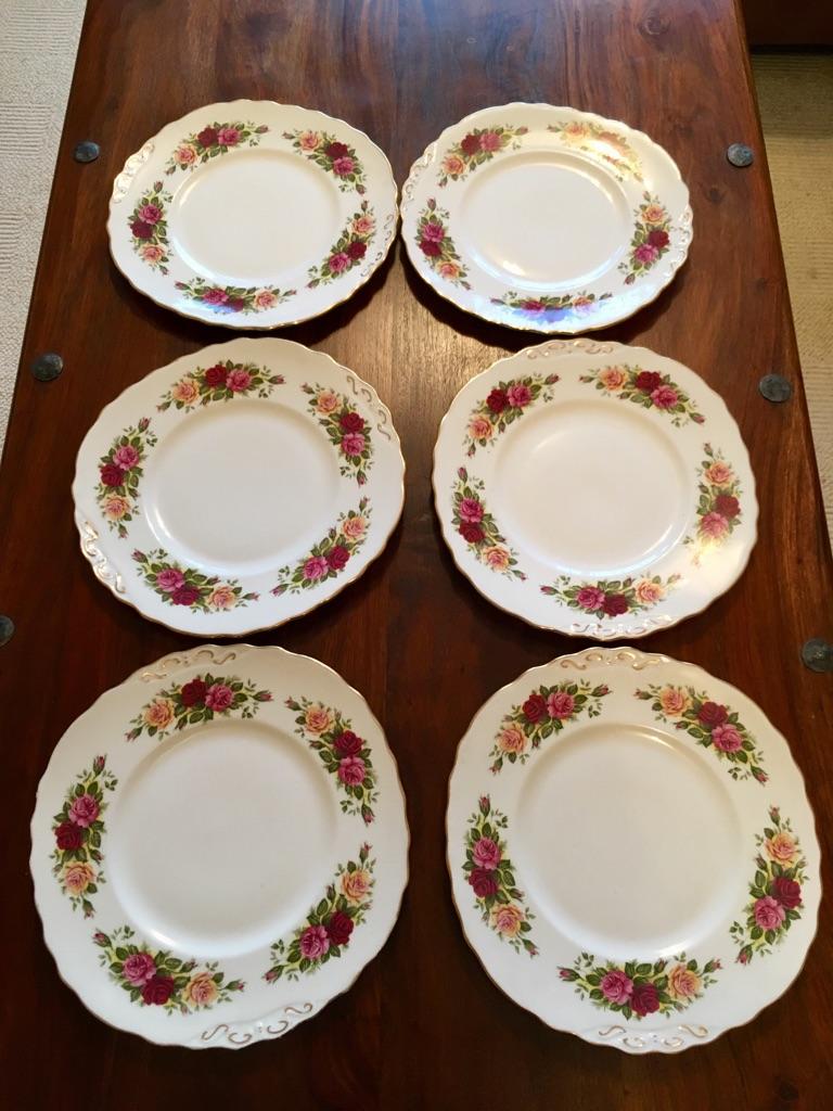 6 Ridgeway Pottery plates. Royal Vale - Bone China.