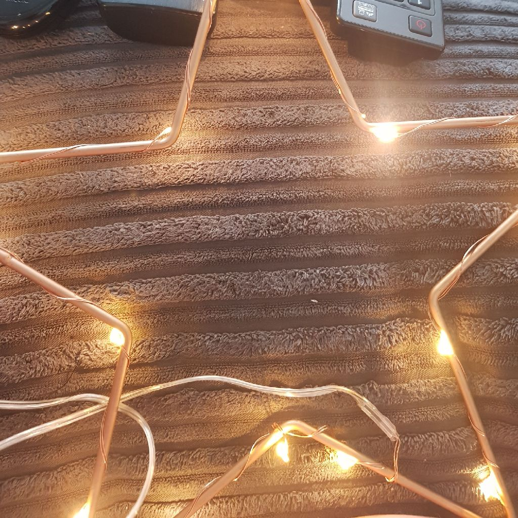 Light up star and 3 rings