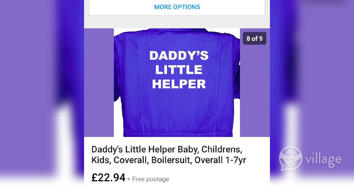 Boilersuit Coverall Childrens Daddy/'s Little Helper Baby Overall 1-7yr Kids