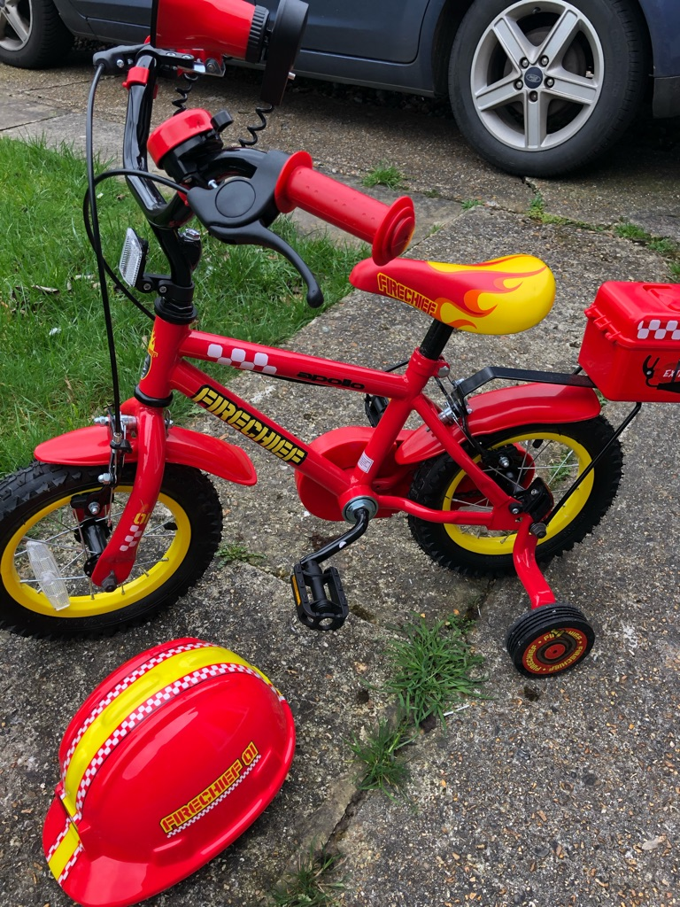 Fire chief bike with helmet