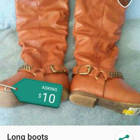 Boots size 7 and 1/2 to 8