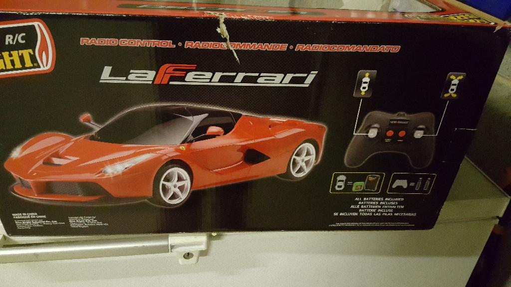 Remote control large red Ferrari