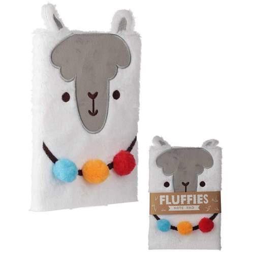 Fluffy plush notebook- Llama design