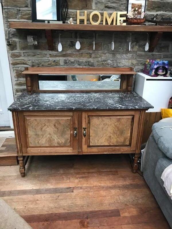 Vintage Marble Top Washstand
