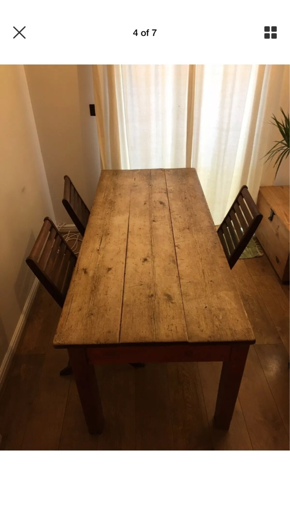 Early Victorian Welsh Farmhouse Table