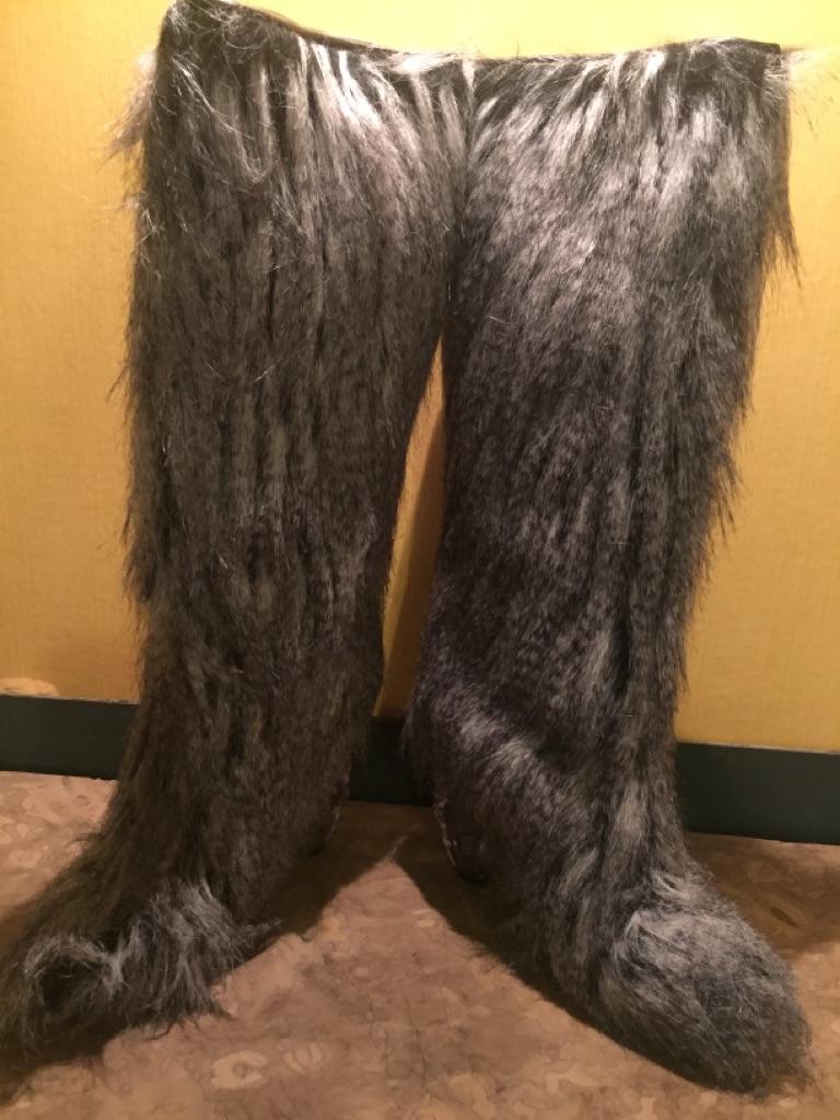 Chanel Faux Fur Boots