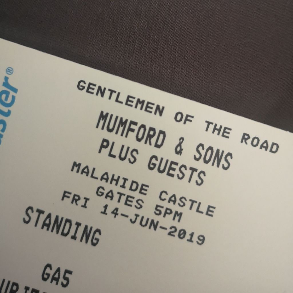 Mumford and sons ticket 14th June