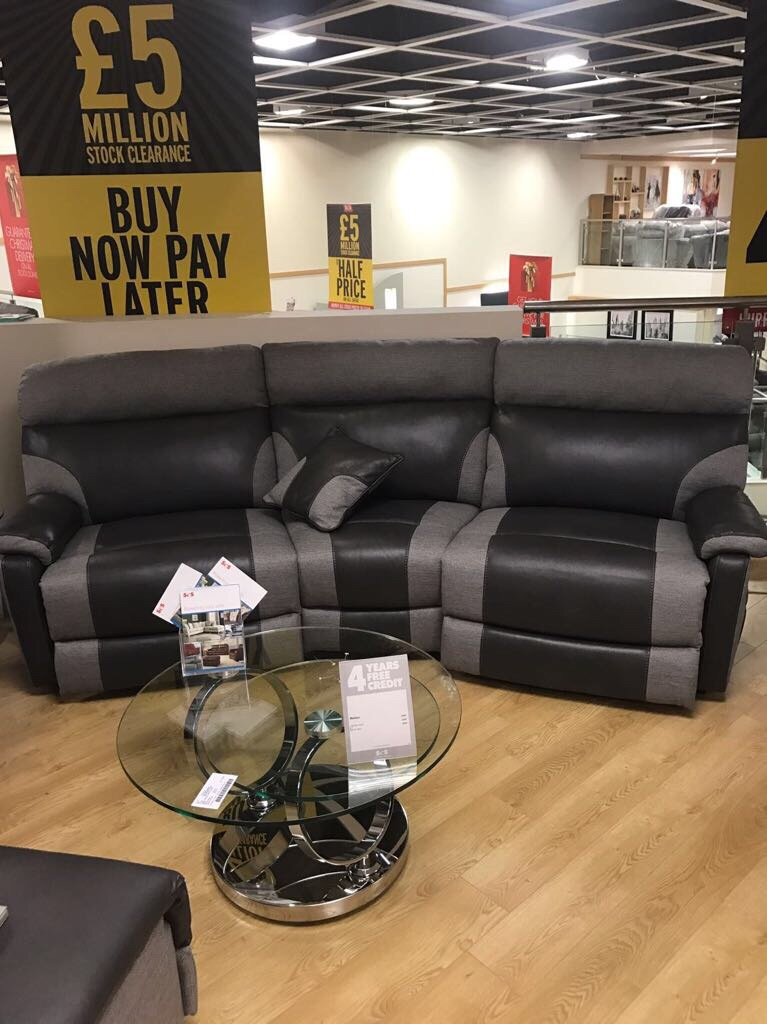 Sofa, arm chair and large pouf