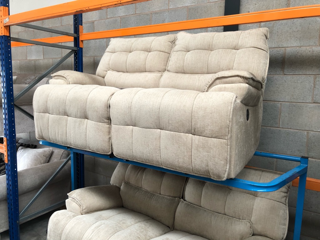 Sofology Westwood 2eat power and manual recliner sofas Darwin barley brand new