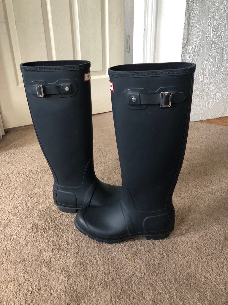 Women's Original Tall Rain Boots: Navy