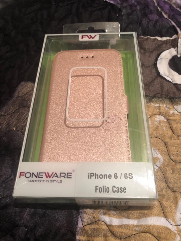 iPhone 6 folio phone case pink