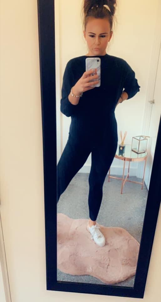 Black soft loungewear