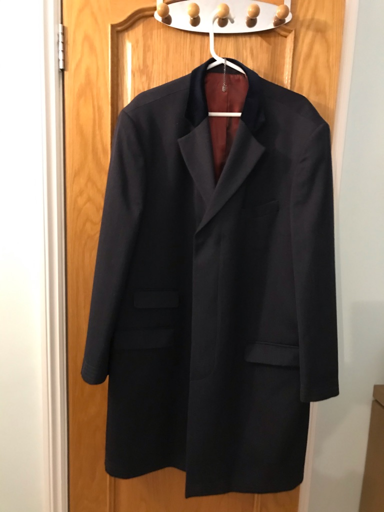 Crombie overcoat and rain coat