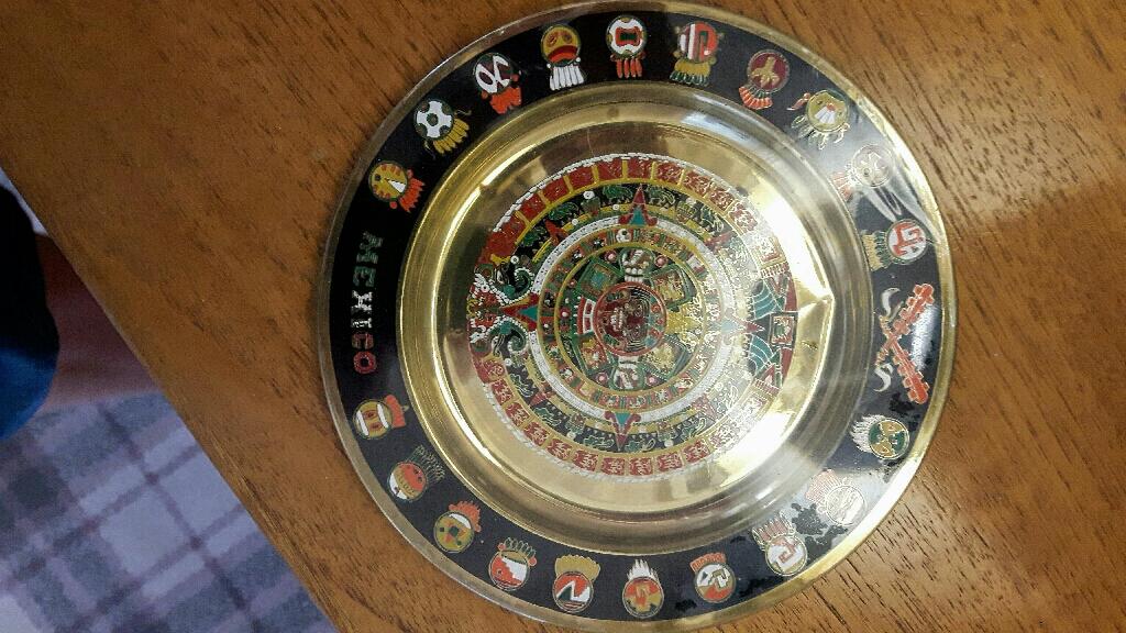 Mexican calendar plate