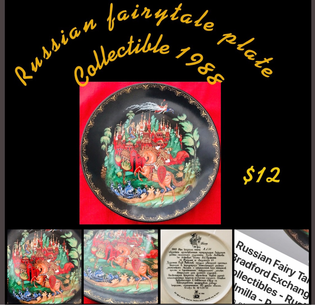 Russian Fairytale display plate