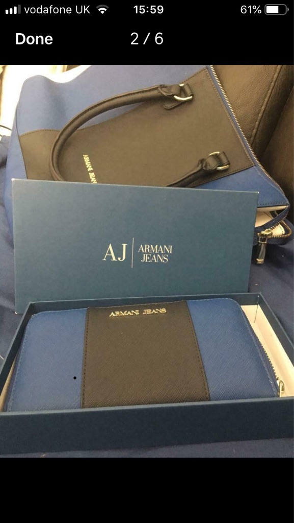 Armani bag and purse
