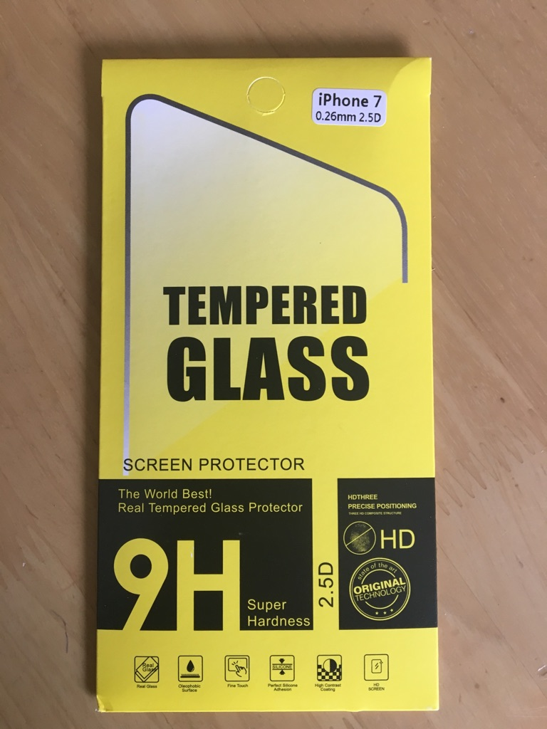 Tempered Glass screen Protector  for iPhone 7 Super Hardness HD