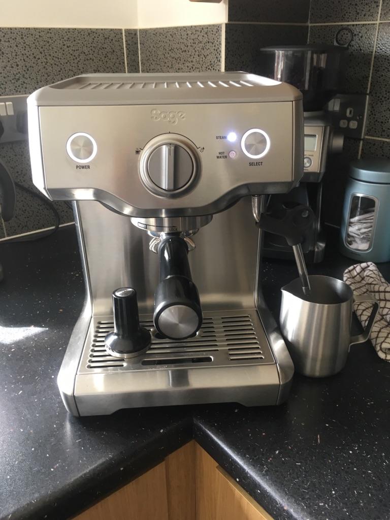 Sage Duo Temp Pro Coffee Machine And Matching Smart Grinder Pro By Heston Blumenthal