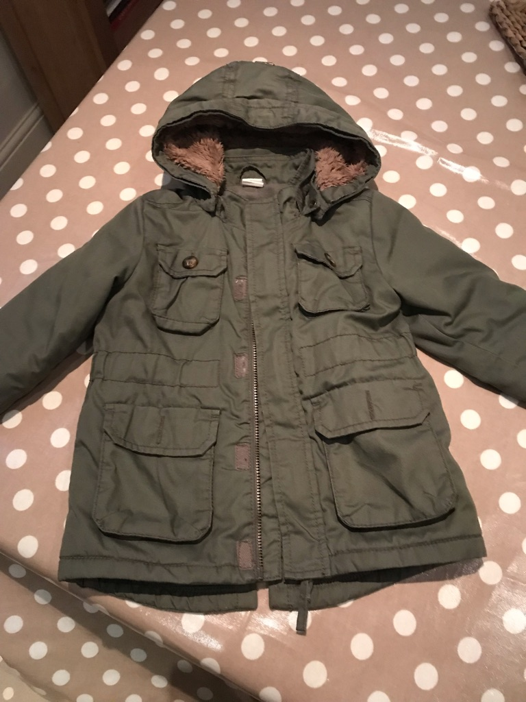 Toddler boys fleece lined parka 9-12m