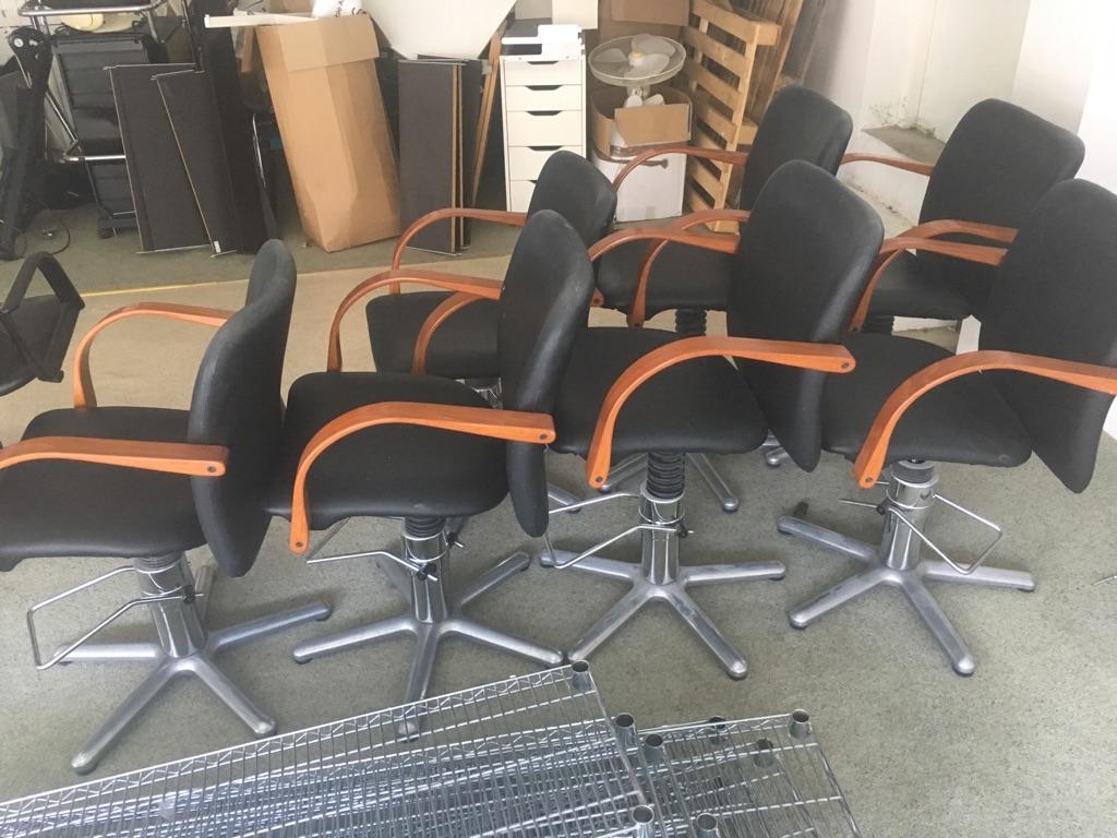 Hydraulic lift hair salon chairs