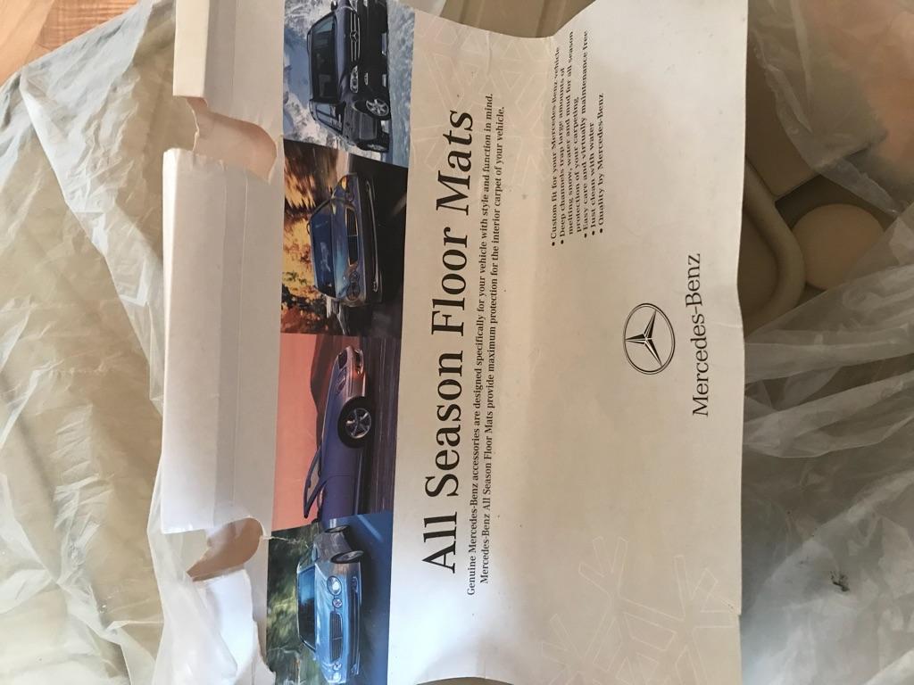 New!!!   Mercedes Benz All Seasons Floor Mats
