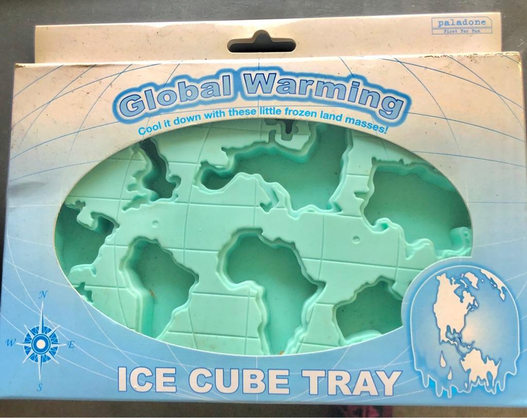 GLOBAL WARMING NOVELTY ICE CUBE TRAY