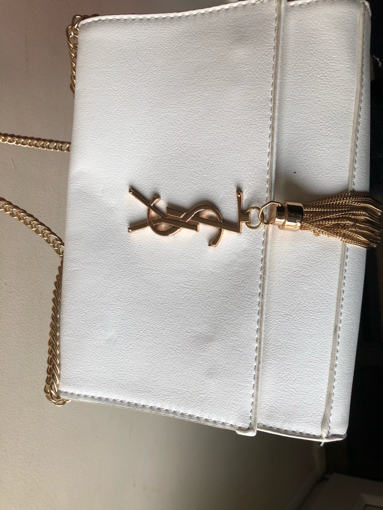 Ysl bag white and hold