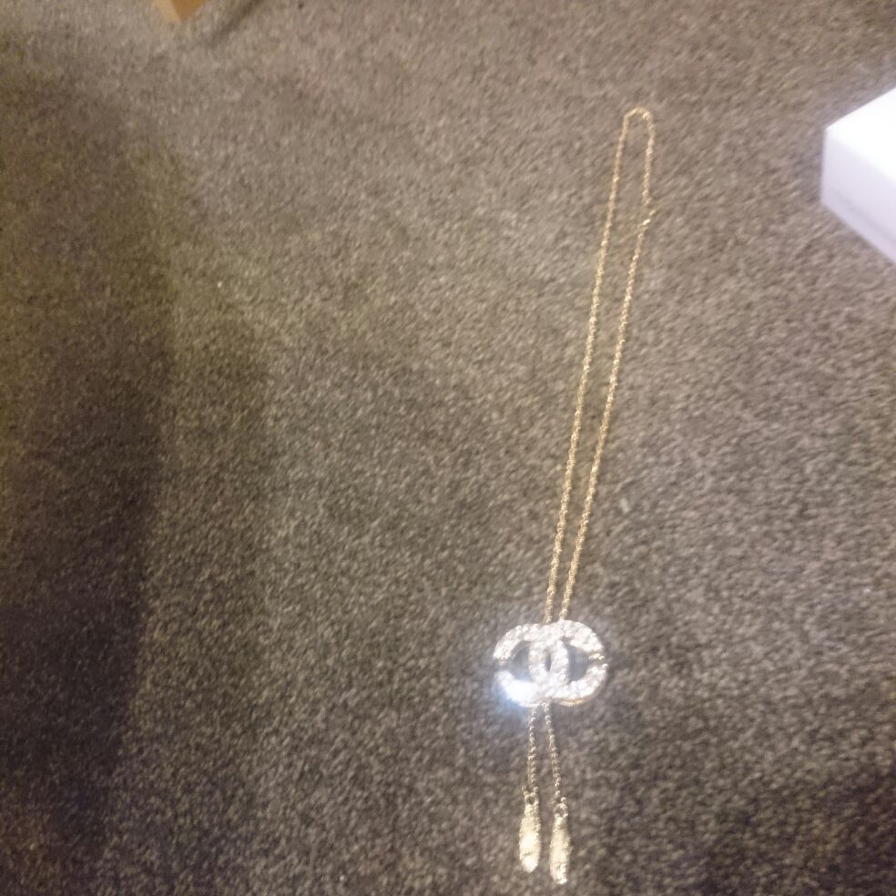 Bling Crystal Longline with tassel Twist rope style pendant Necklace