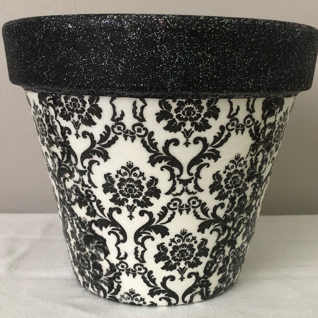 Handmade Decoupaged Terracotta Plant Pots