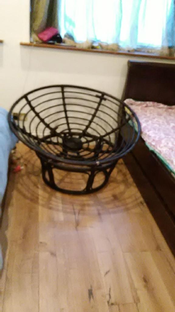 Papasan chair with cushion