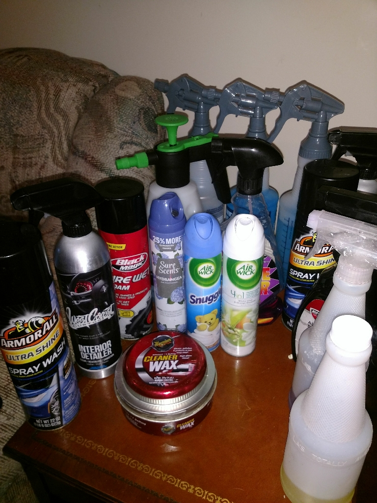 Car detailing stuff for sale