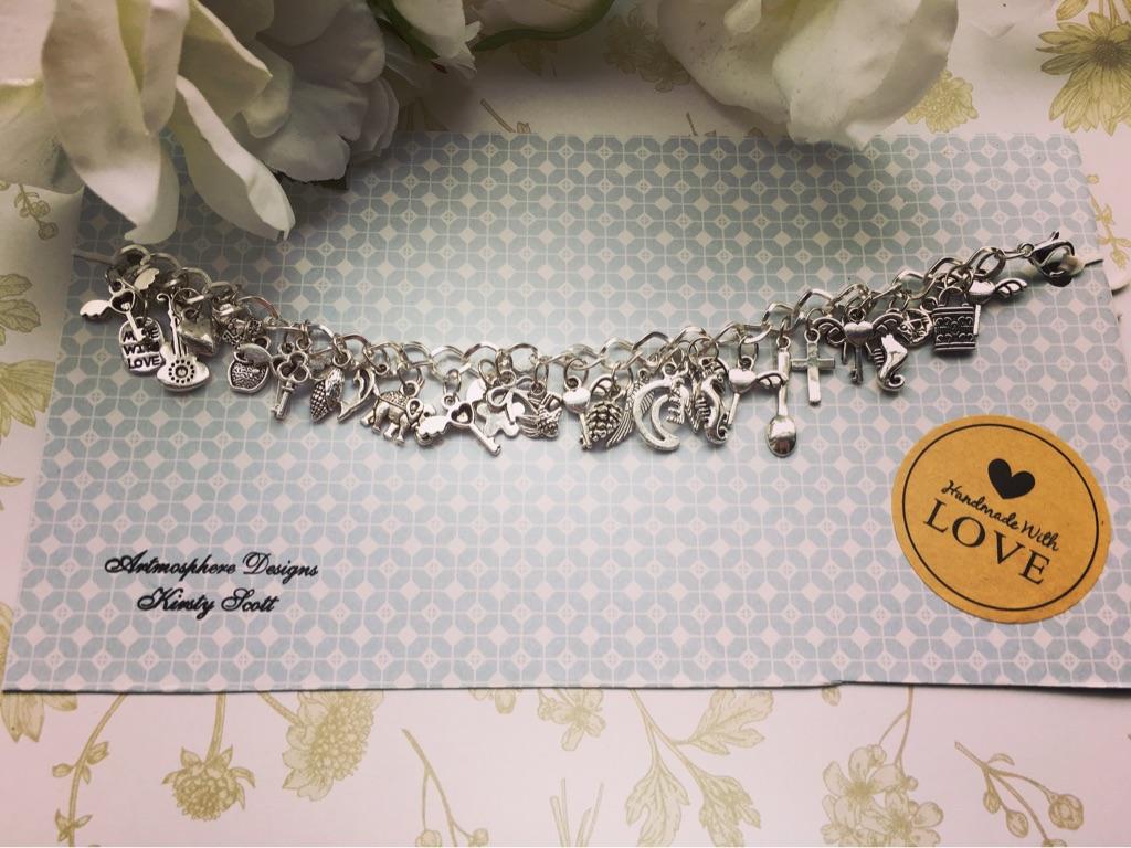 Large chunky charm bracelet