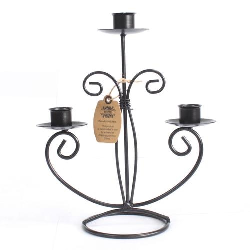 Iron candle holder- tri stick classic