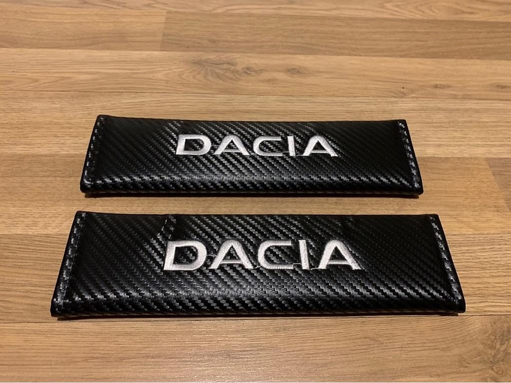2X Seat Belt Pads Carbon Gift Dacia Logan Sandero Stepway Duster MCV