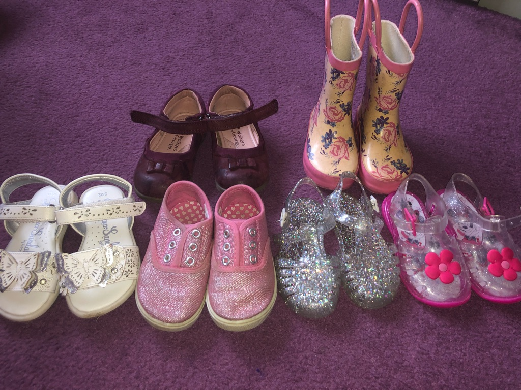 Girls 18-24 months clothes and size 5 shoes
