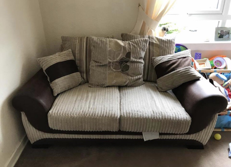 2 Brown/chestnut 2 seater couches