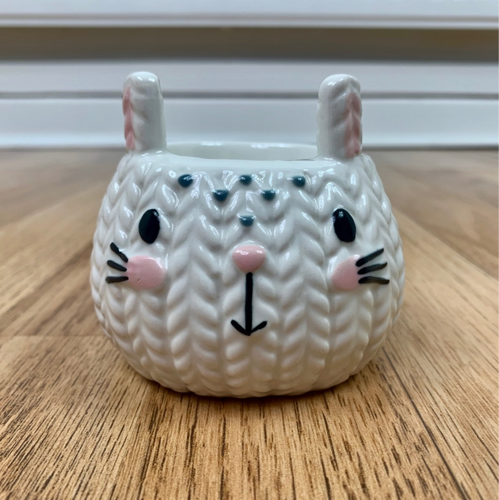 Cute Ceramic Kitty Jewellery Holder