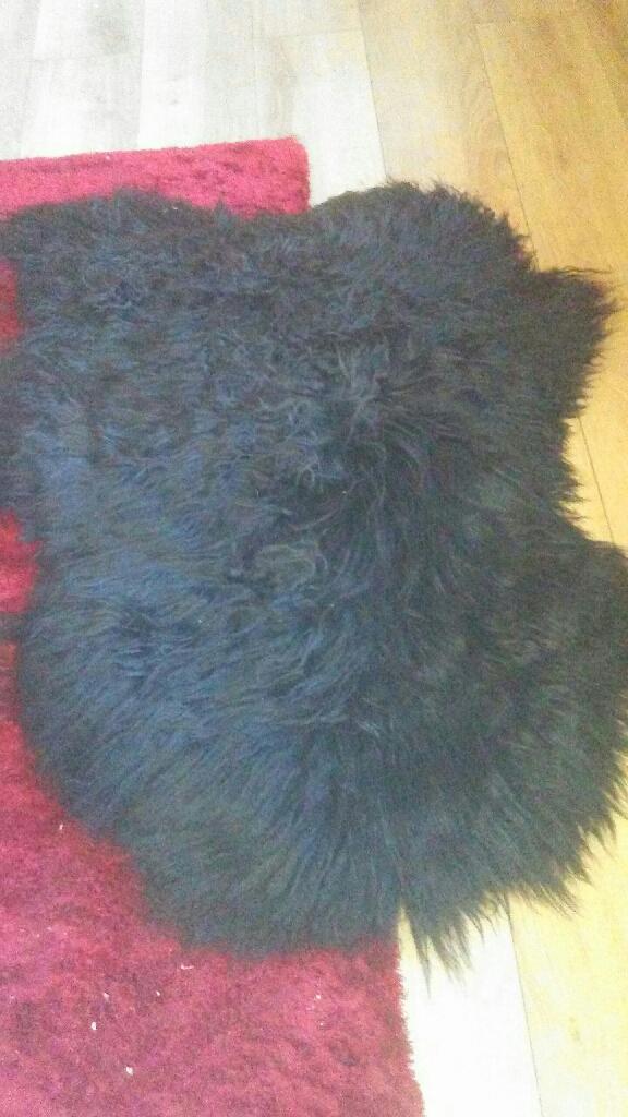 Sheep skin rug geniune leather