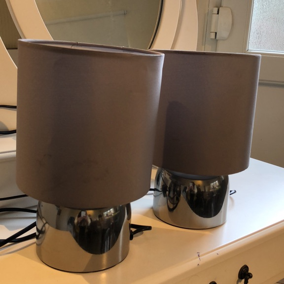 Pair of Touch Table Lamps - Flint Grey