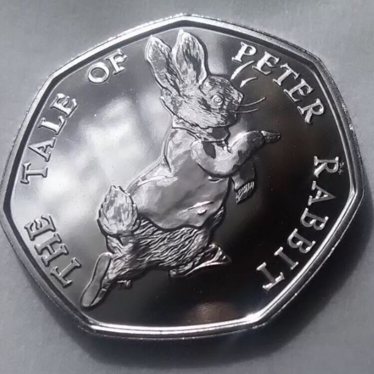 50p coin the tale of Peter rabbit 2017.