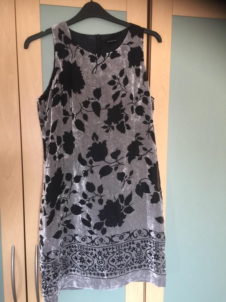 Size 14 velour/velvet shift dress