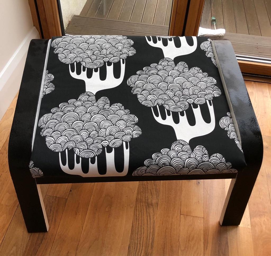Upcycled Retro Footstool