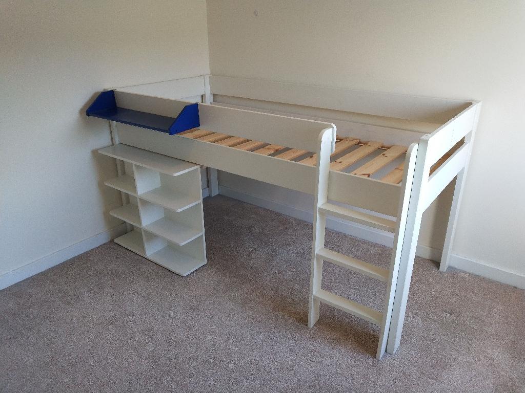 Stompa kids bed frame and embeded desk