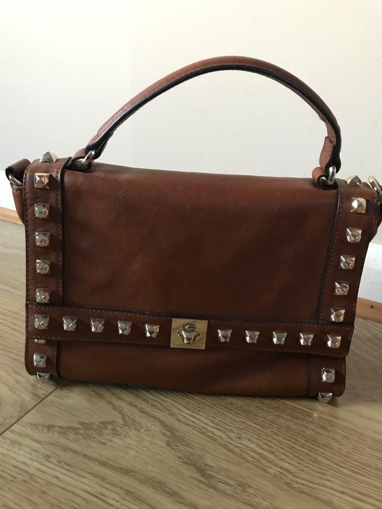 Karen Millen tan leather bag