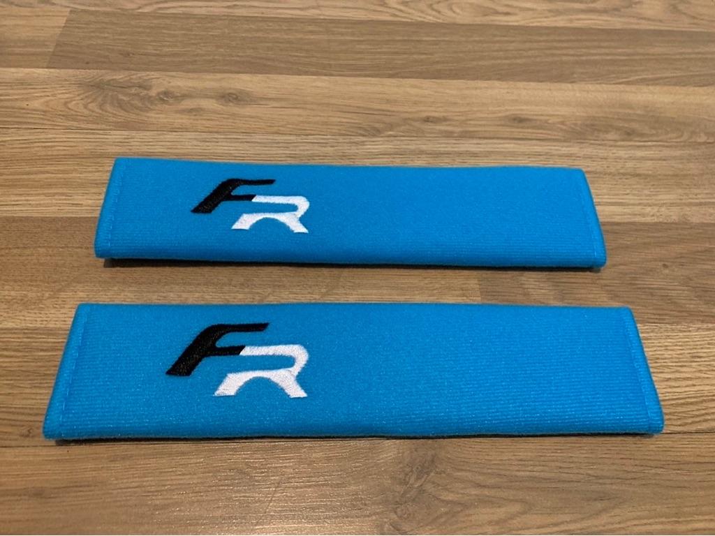 2X Seat Belt Pads Cotton Blue Gifts Seat Leon FR Cupra Ibiza Altea Sport K1 Ateca Tuning