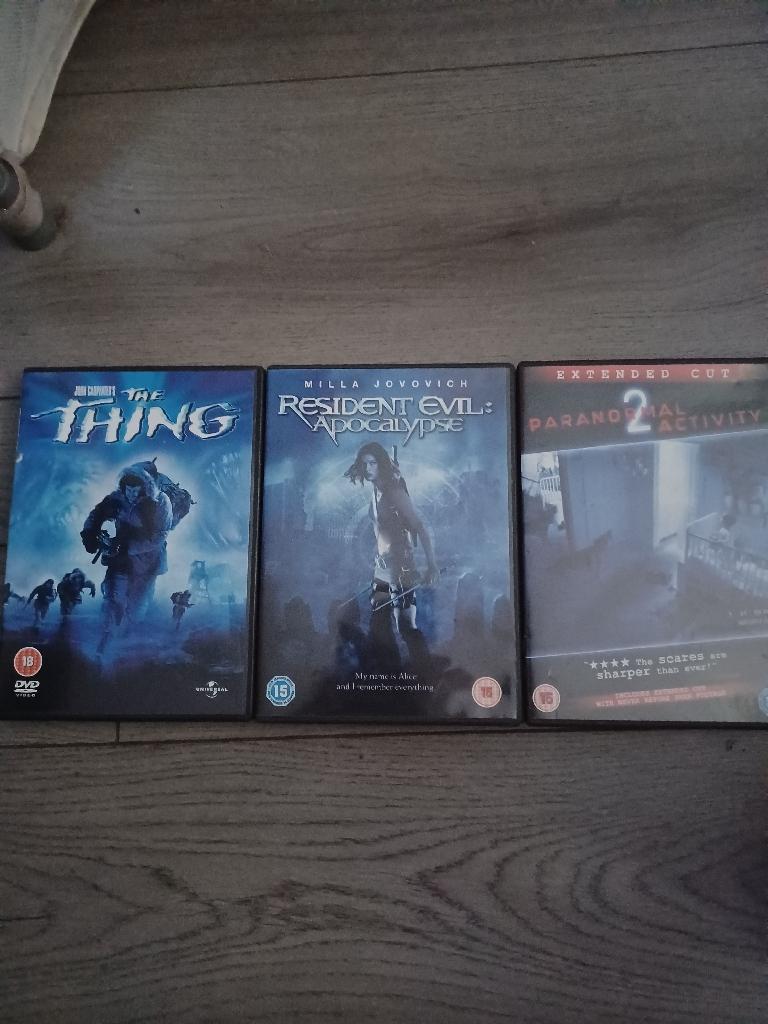 Horror dvd bundle 3 dvds