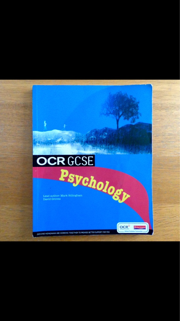 OCR GSCE Psychology Revision Book/guide