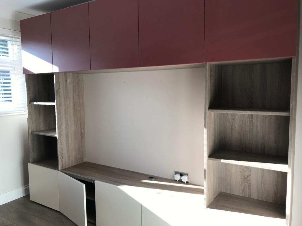 TV storage unit in hull